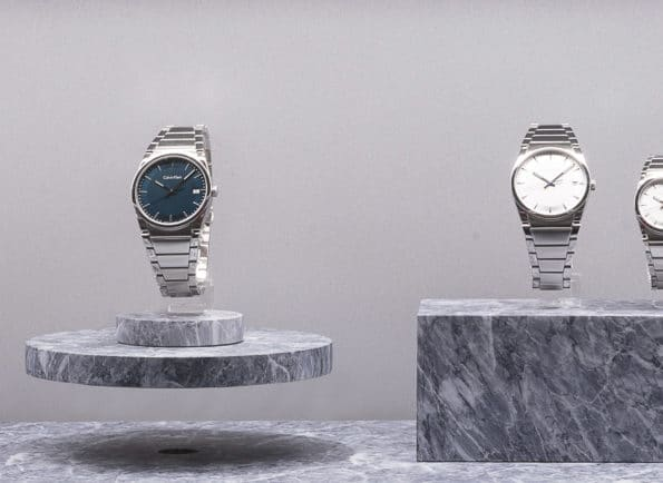 floating Calvin Klein watch